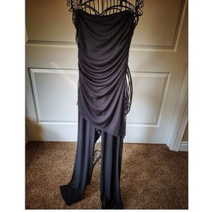 Strapless dressy black Playsuit/Jumpsuit